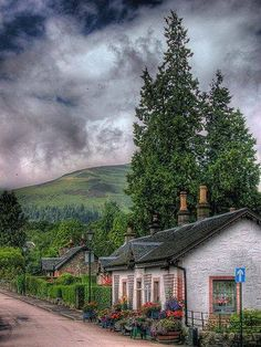 A cottage at Loch Lamond, Scotland