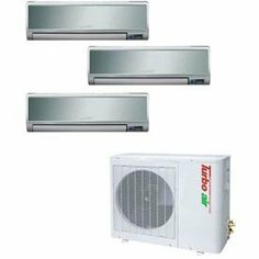 Turbo Air Ductless Mini Split Air Conditioner Tas 30mvhn O 30000 Btu Cool Btu Heat By Tur Air Conditioner Accessories Heating And Cooling Ductless Mini Split