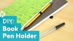 DIY loop pen or pencil holder for your notebook. Made with elastic band and a glue gun.