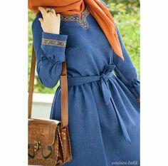 Hijab Fashion Summer, Abaya Fashion, Modest Fashion, Fashion Dresses, Hijab Style Dress, Hijab Chic, Hijab Outfit, Modele Hijab, Mode Abaya