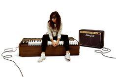 Puff de diseño - Woouf piano y amplificador
