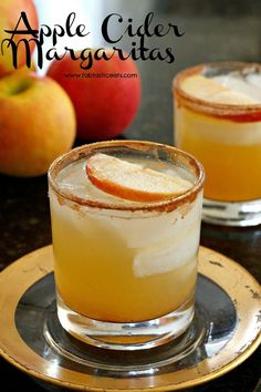 Perfectly festive and tasty Apple Cider Margaritas to usher in Fall! Sunday is the official first day of Fall..the weather...
