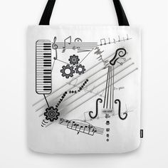 Musical Masterpiece Tote Bag by imagology Musicals, Reusable Tote Bags, Bright, Stuff To Buy, Musical Theatre
