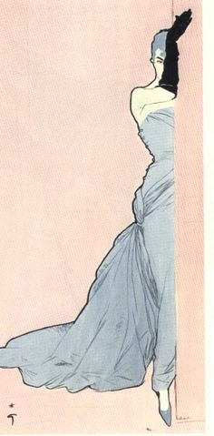 Fashion illustration by Rene Gruau