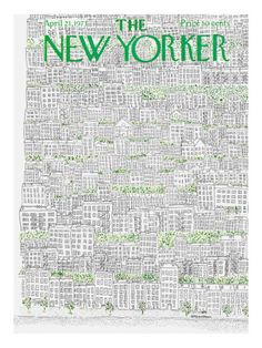 The New Yorker Cover - April 1973 Premium Giclee Print. The New Yorker has some great examples of covers that are comprised of artwork rather than people. The New Yorker, New Yorker Covers, Capas New Yorker, Saul Bass, Vintage Poster, Magazine Design, Flow Magazine, Magazine Art, Thing 1