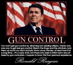 2nd Amendment. Thank God for people like Ronald Reagan. Someone who really cared about the people. Presidents should not have the right to take away our protection. That's why it's our 2nd Amendment.