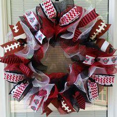 Ohio State Wreath Buckeyes Wreath OSU Wreath by WreathsByRobyn