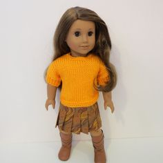 American Girl Doll Clothes  Hand Knitted Sweater by AmericAnnMade, $23.00