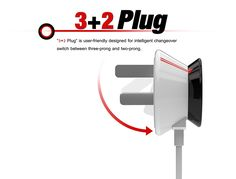 Plug, a shape shifting plug design that can alter to fit two plug-point configurations. Yanko Design, Innovation Design, Power Strip, Industrial Design, Plugs, Concept, Cable, Shape, Cabo
