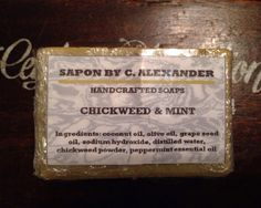 Chickweed and Mint Homemade Soap by SaponbyCAlexander on Etsy