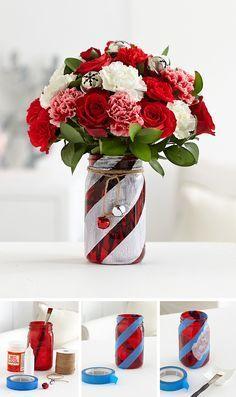 Candy Cane Lane DIY Vase
