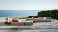 BRIXX Collection / Lorenza Bozzoli for Dedon - Inspiration for your one-of-a-kind outdoor dream space. New in – BRIXX Collection, developed in collaboration with Lorenza Bozzoli. Its comfortable shapes and flexible system of rectangular modules enable a wonderfully playful 360° experience. More versatility, accessible from all sides. Recycled, water-repellent fibers for indoor and outdoor use. Comfort and modularity...