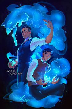 percival graves // credence barebone // patronus charm I actually think that Graves/Grindlewald would have a magical creature as his patronus, like Dumbledore has a phoenix. But Credence with a rabbit? So cute, so sweet ♡ Harry Potter Jk Rowling, Harry Potter Universal, Harry Potter World, Fantastic Beasts Fanart, Fantastic Beasts And Where, Creedence Barebone, Hogwarts, Character Art, Character Design