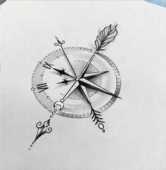 Boussole Tatto - horloge - Boussole Tatto – horloge Informations About Tatto compass – clock Pin You can easily use my prof - Bild Tattoos, Neue Tattoos, Body Art Tattoos, Tattoo Drawings, Sleeve Tattoos, Tatoos, Tattoo Ink, Clock Tattoo Design, Compass Tattoo Design