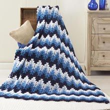"Nightshade Ripple Blanket - ala ""Breaking Amish"" Free Pattern with free, no hassle PDF download."