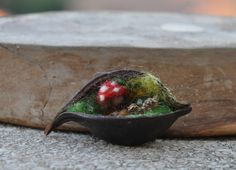 Needle felted Brooch Pin-Forest children Waldorf by darialvovsky