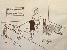 topoglu.blogspot.com: yüzme eğitimi 1959 nostaljik eski karikatürler