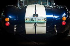 Backdraft Cobra, Indigo Blue, Wimbledon White Stripes, Amaro Brown Leather Interior