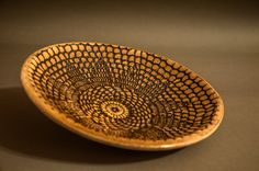 ceramic plate, handmade, african pattern