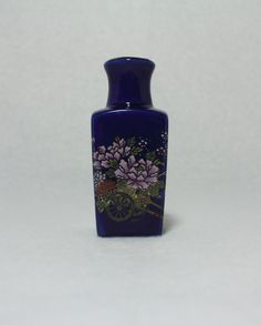 Shop for pottery on Etsy, the place to express your creativity through the buying and selling of handmade and vintage goods. Porcelain Ceramics, Ceramic Vase, Pottery Vase, Cobalt Blue, 1970s, Fans, Relax, Miniatures, Japanese