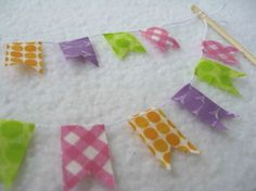 Cake Bunting made with Washi Tape