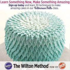 You can now learn The Wilton Method®: Buttercream Skills anytime, anywhere, online! Learn to make buttercream decorations that will amaze. We teach you all the essentials, from achieving the perfect icing consistency and color, to filling and handling different styles of decorating bags.