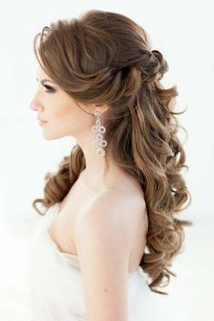 hair styles for long hair down hair flower hair bridesmaid hair long updo wedding hair hair style for short hair hair with veils wedding hair dos Wedding Hairstyles Half Up Half Down, Wedding Hairstyles For Long Hair, Down Hairstyles, Pretty Hairstyles, Hairstyle Ideas, Elegant Hairstyles, Hairstyles 2016, Hairstyle Wedding, Creative Hairstyles