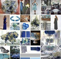 Blue and Grey Wedding