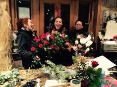 Fleurs girls at Valentines 2016 www.fleursflorist.co.uk