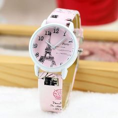 Cute Paris Eiffel Tower Quartz Watch Ladies Students Casual Watches - Cute Paris Eiffel Tower Quartz Watch Ladies Students Casual Watches Source by school_backpack_bygoods - Cute Watches, Retro Watches, High End Watches, Casual Watches, Vintage Watches, Watches For Men, Women's Watches, Elegant Watches, Luxury Watches