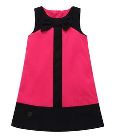Another great find on #zulily! Pink Bow Color Block Shift Dress - Infant, Toddler & Girls #zulilyfinds