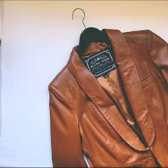 Brown leather jacket Gorgeous soft 100% leather blazer lining 100% polyester. Runs a little small. Never worn out. No trades and no PayPal. Blanc Noir  Jackets & Coats Blazers