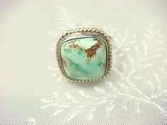 What a Cool  Unique Gift or Promise Ring this would make!  Turquoise Ring Navajo Ring Turquoise Jewelry by ShinePrettyGems, $39.00