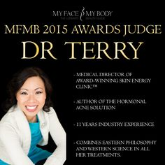Dr Terry from Skin Energy Clinic will be on our judging panel of the MyFaceMyBody 2015 Awards on 7th November.