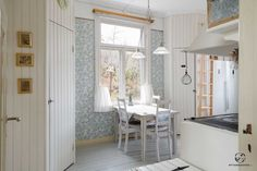 Keittiön ruokailutila Finland Country, Cottage Design, Spice Things Up, Villa, Interior, Kitchens, House, Inspiration, Furniture