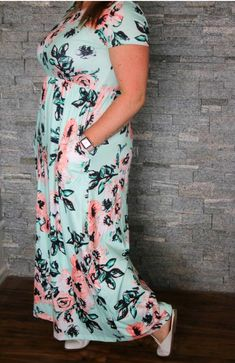 Forget Me Not Floral Maxi Dress. This unforgettable piece is flowy, flattering, and floral for spring. Salt And Light, Fun Events, Spring Collection, Floral Maxi Dress, Your Girl, Forget, Short Sleeve Dresses, Brand New, Pretty