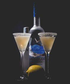 The perfect Grey Goose Lemon Drop Martini - 2 oz. vodka, 1 oz. simple syrup, 1/2 oz. triple sec and the juice of 1 lemon.