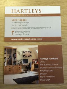 Our new business cards :) we decided on the homestudy pic to show another string to our bow!