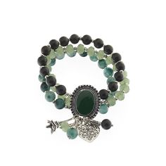 Biba armband paris bedels groen