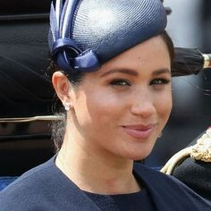 Queen Elizabeth II gave Meghan Markle a special pair of earrings for their first royal outing together. Take a closer look at the earrings here. Princess Meghan, Queen Elizabeth Ii, Meghan Markle, Headphones, Take That, Headpieces, Headset, Ear Phones