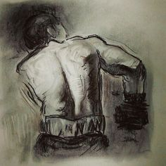 My charcoal drawing after a Steve Hudson's tutorial