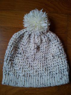 Gorro de lã em crochet