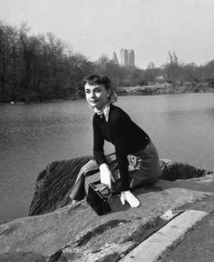 Audrey Hepburn photographed by George Douglas in Central Park, New York, USA, 1952.
