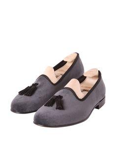 Madison Tassel Slate Grey Velvet - £255.00