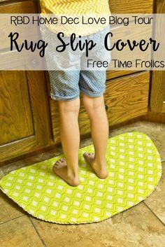 howm dec rug slip cover DIY tutorial www.freetimefrolics.com