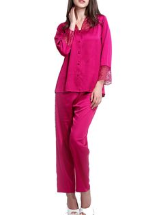Burvogue Soft Silk Long Sleeve Nightgown Set Gown Robes Wholesale