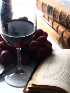 because reading leather bound literature, and drinking a glass of red wine, can fool anyone into thinking that you are an 'Intellectual', ( even if it is a leather bound copy of Agatha Christie)