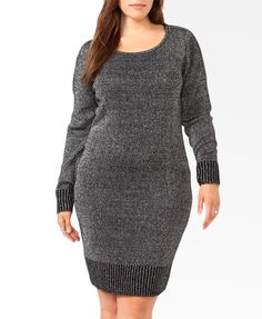 Metallic Sweater Dress | FOREVER21 PLUS - 2031556632; hmm. Maybe a different color, and 3/4 sleeves.