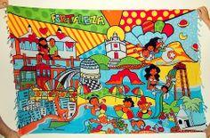 Cangas de Praia Verão 2014 - Fortaleza Andreza Katsani - LIcenciado - Todos os direitos reservados Comic Books, Comics, Cover, Fictional Characters, Art, Beach Quilt, Fortaleza, Art Background, Kunst