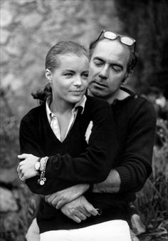Romy Schneider et Jacques Deray sur le tournage de La Piscine, 1969
